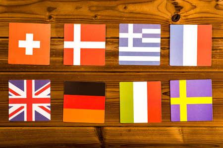 european exchange: European flag Stock Photo