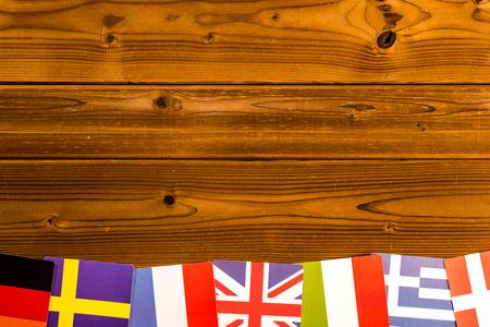 european: European flag Stock Photo