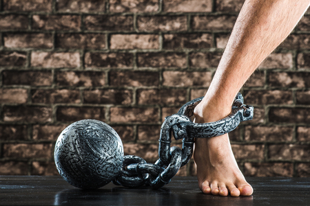prison ball: Shackles, iron ball