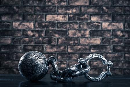 slave labor: Shackles, iron ball