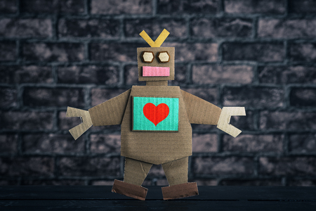 self operation: Robot and heart