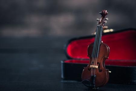 copy  space: Violin and copy space