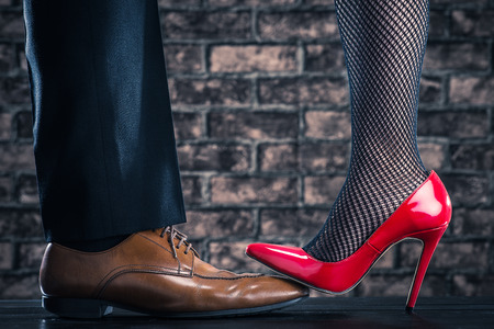 heartbreak issues: High heeled women are stepping on the shoes of the man