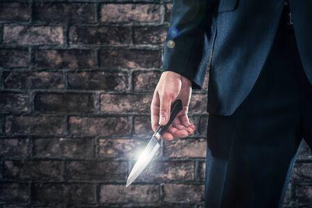 Man has a knife