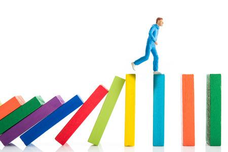 dangerous ideas: domino block and running men