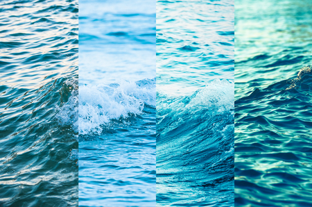 combination: Texture combination,Sea wave Stock Photo