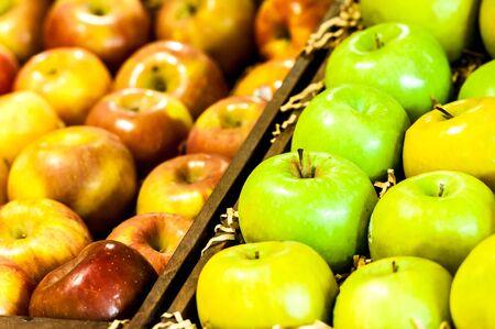 スーパー マーケットのアップル 写真素材
