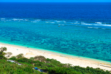 Okinawa, coral reefs, sea Stock Photo
