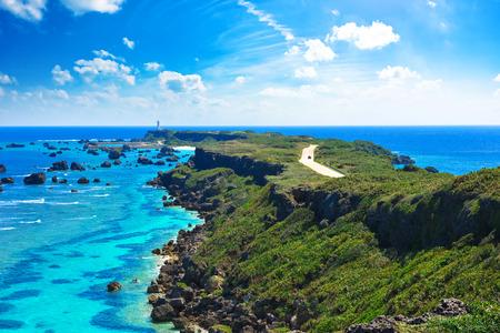 일본 오키나와 미야코 섬의 higasihennazaki