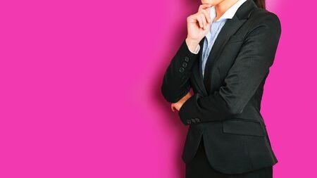 instability: Businesswoman, pink background