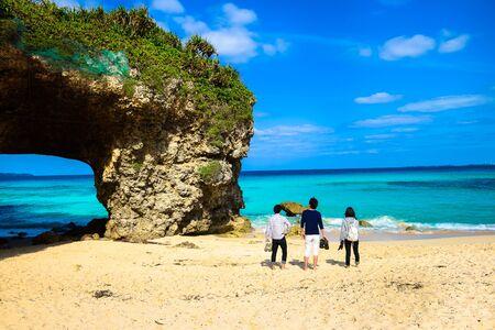 Japon Okinawa Miyakojima sandpile Plage Banque d'images - 58683415