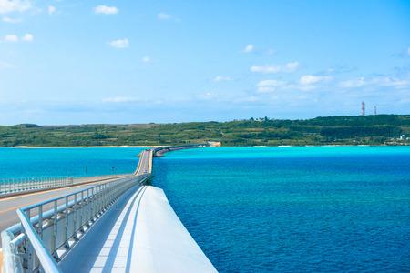 Irabu bridge, Miyako Island in Okinawa Stock Photo