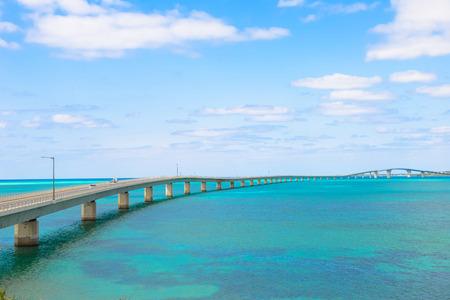 Irabu bridge, Miyako Island in Okinawa