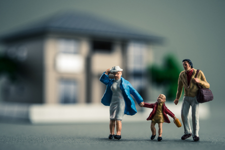 only 3 people: Miniature of family and Housing