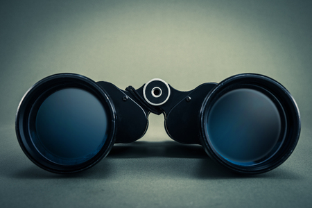 mountain peek: binoculars