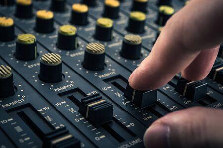 Opnemen mixer Stockfoto