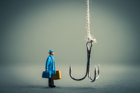 scandals: Hook and businessman Stock Photo