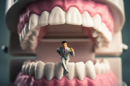 Teeth and a human