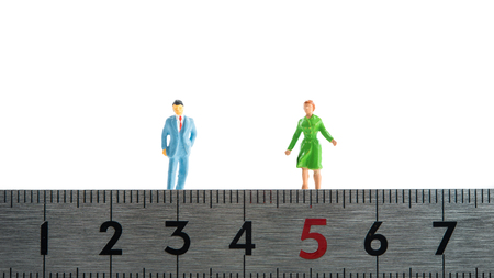 distance: men and women, distance Stock Photo