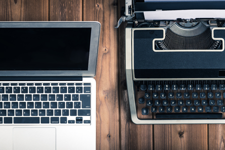 compared: Typewriters and laptop