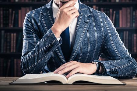 Reading and men Stok Fotoğraf - 58807803