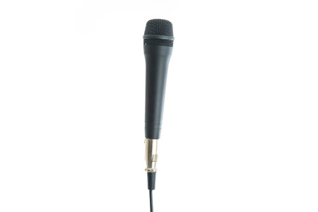 voices: Microphone white background