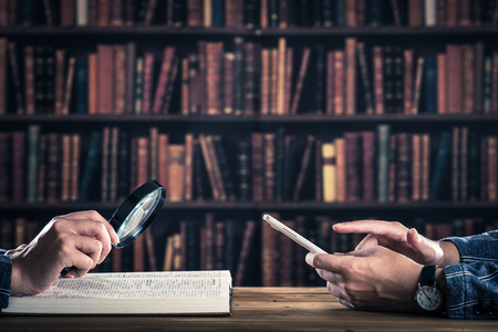 Smartphone and book