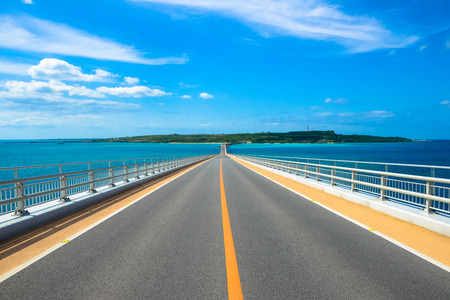 Irabu bridge, Miyako Island in Okinawa Stok Fotoğraf