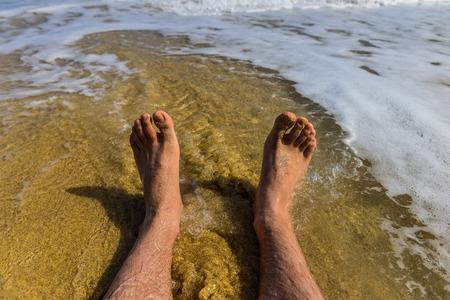 sandy feet: Sandy beach and feet