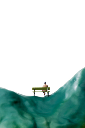 sit: businessman sit on a bench Stock Photo