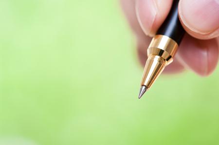 ballpoint pen: Ballpoint pen green background
