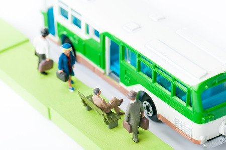 commute: Businessman to commute by bus