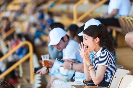 Stadium, woman to cheer