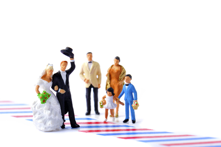 of miniature: Wedding miniature dolls