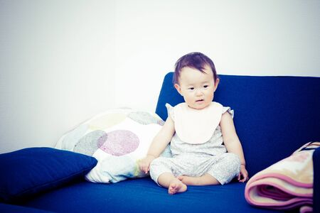 home birth: Cute baby.Japanese Asian