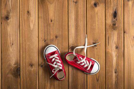 woodgrain: Childrens sneakers, woodgrain