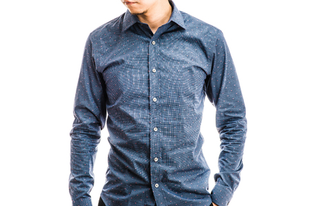 upper body: Male upper body wearing shirt Stock Photo