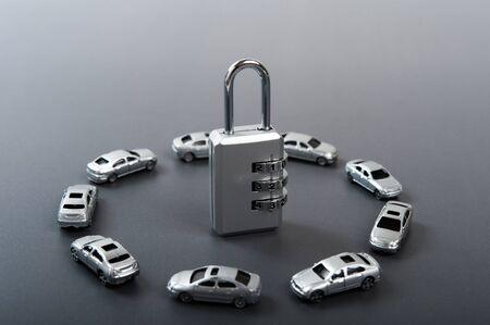 dial: dial lock and car