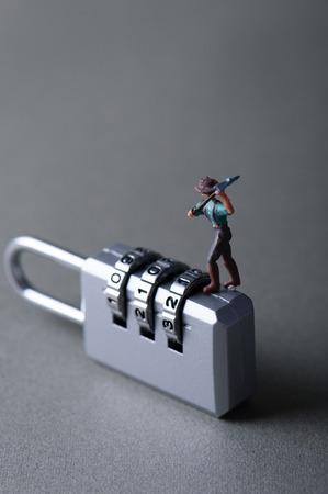 dial lock: dial lock Stock Photo