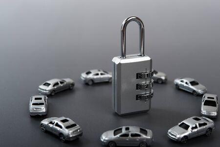 dial lock: dial lock and car