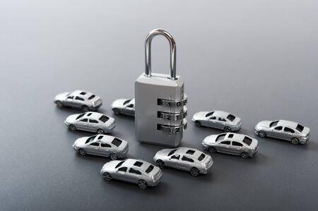 dial lock and car