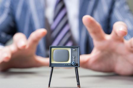 古いテレビセット 写真素材