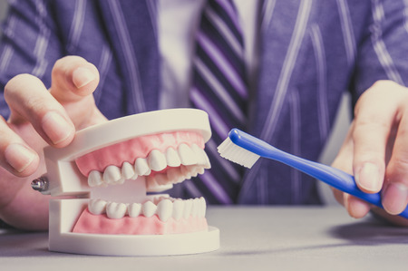 oral surgery: Dental image Stock Photo