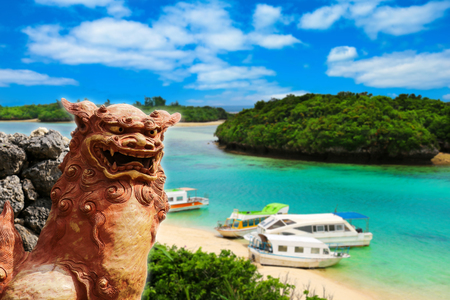 Japan Okinawa Shisa Stock Photo