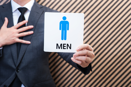 sexual selection: Businessman who has the mark of the man