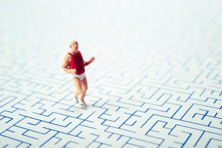 fat man run the maze