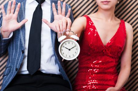 Clock,men and women