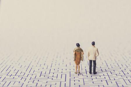 Husband and wife ,quarrel,maze