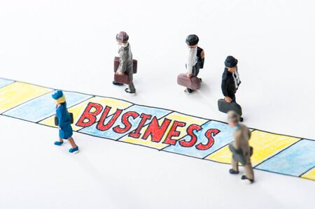 miniature businessmen Stock Photo