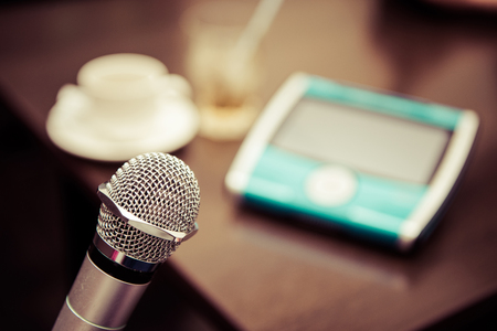 Karaoke image photo, microphone Stock Photo